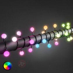 Kolorowy łańcuch świetlny LED RGB 80-pkt. na zewn.