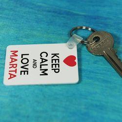 Keep Calm and Love... - brelok do kluczy - Brelok do kluczy
