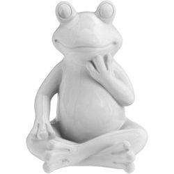 Ozdoba ogrodowa Biała Żaba - wys. 20 cm