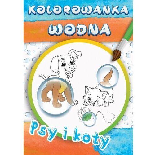 Książki dla dzieci, Wodne kolorowanki psy i koty (opr. broszurowa)