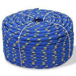 vidaXL Linka żeglarska z polipropylenu, 6 mm, 100 m, niebieska Darmowa wysyłka i zwroty