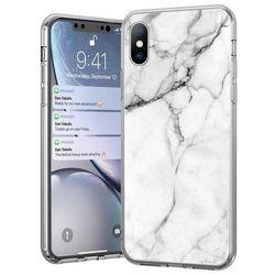 Wozinsky Marble żelowe etui pokrowiec marmur Samsung Galaxy A70 biały - Biały