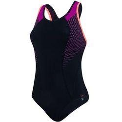 Speedo Damski kostium kąpielowy Fit Pro czarny/różowy/pomarańczowy 36