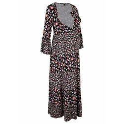 Sukienka ciążowa i do karmienia piersią LENZING™ ECOVERO™ bonprix czarny w kwiaty