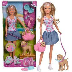Simba Lalka Steffi na spacerze z psami