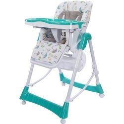 Krzesełko do karmienia Laura turkusowe Sun Baby LHB-009/T - BEZPŁATNY ODBIÓR: WROCŁAW!