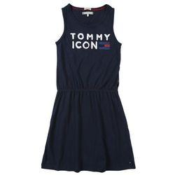 TOMMY HILFIGER Sukienka 'ESSENTIAL KNIT DRESS SLVLS' czarny