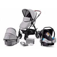 Wózki wielofunkcyjne, KinderKraft Wielofunkcyjny wózek 3w1 Moov Grey