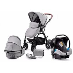 Kinderkraft Wózek wielofunkcyjny 3w1 Moov, szary