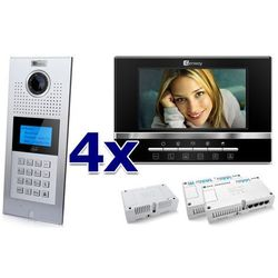 Zestaw wideodomofonowy 4 rodzinny Panel C5 C9E21L-C, 4x Monitor C5 V13, Akcesoria