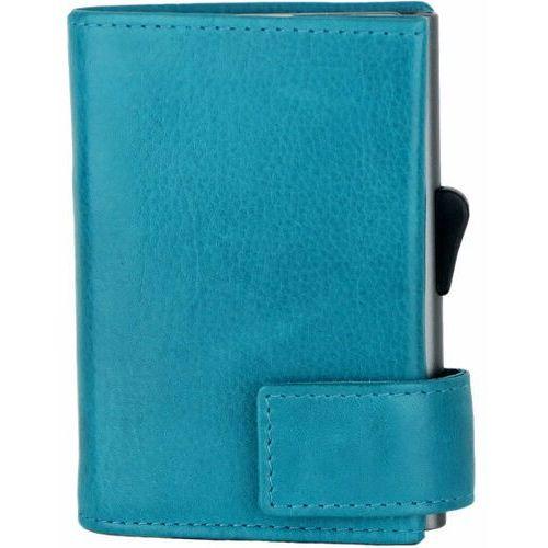 Etui i pokrowce, SecWal SecWal 1 Kreditkartenetui Geldbörse RFID Leder 9 cm türkis ZAPISZ SIĘ DO NASZEGO NEWSLETTERA, A OTRZYMASZ VOUCHER Z 15% ZNIŻKĄ