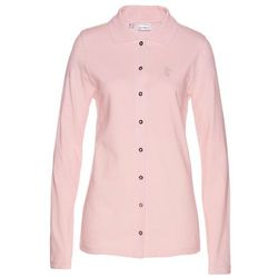 Shirt polo z bawełny pique bonprix pastelowy jasnoróżowy