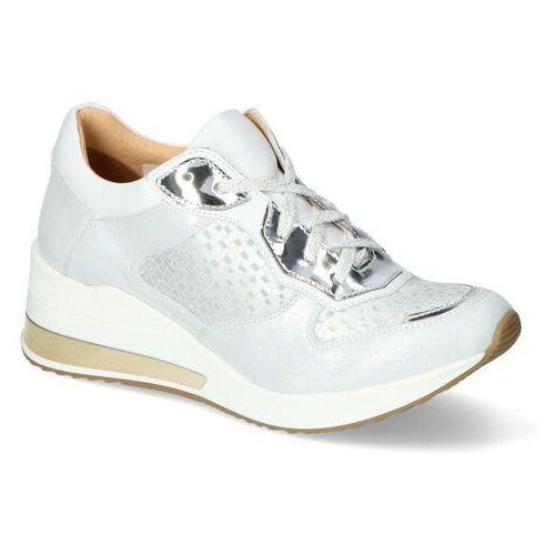 Damskie obuwie sportowe, Sneakersy Aga 07550/1857/1810/186 Białe lico