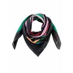 Chusta trójkątna bonprix czarny w kolorowe paski