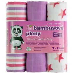 T-tomi BIO Pieluchy bambusowe, różowe gwiazdki - BEZPŁATNY ODBIÓR: WROCŁAW!