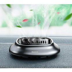 Baseus Little Volcano odświeżacz powietrza zapach do samochodu na deskę rozdzielczą (4 wkłady) srebrny (SUXUN-BH0S)