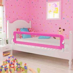 vidaXL Barierka ochronna do łóżeczka 150 x 42 cm różowa Darmowa wysyłka i zwroty