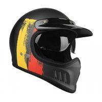 Kaski motocyklowe, Lazer kask cross tt belgium czarny/cze/żółty mat