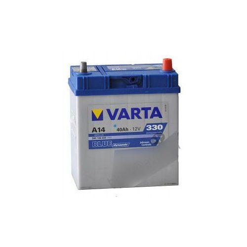 Akumulatory samochodowe, Akumulator 40Ah 330A P+ Varta Blue A14 Japan
