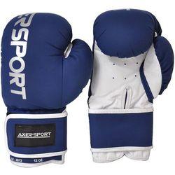 Rękawice bokserskie AXER SPORT A1345 Granatowo-Biały (8 oz)