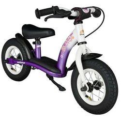 """Rowerek biegowy 10"""" NISKI od 2 lat BIKESTAR GERMANY classic, kolor liliowo-biały"""