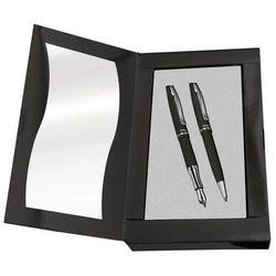 Metalowe pióro wieczne Jazz elegance + długopis czarny