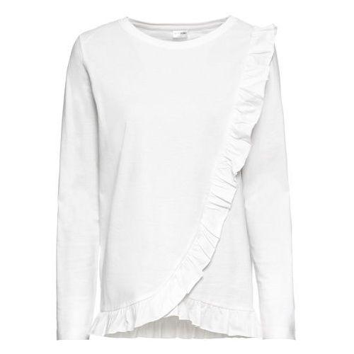 Bluzki, Shirt z kieszonką na wys. piersi bonprix jasnoszary melanż