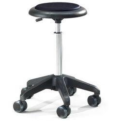 Mobilny stołek warsztatowy DIEGO, 440-570 mm, czarna tkanina