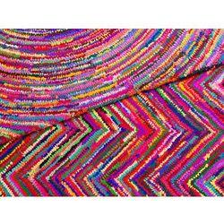 Dywan - kolorowy - poliester - bawełna - shaggy - 140x200 cm - KARASU