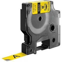 Taśma do nadruku DYMO S0718450, 12 mm x 5.5 m, Kolor taśmy: żółty / Kolor nadruku: czarny
