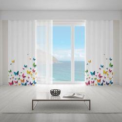 Zasłona okienna na wymiar - PAPILLONS VOLANT BUTTERFLIES