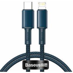 Kabel USB-C do Lightning Baseus High Density Braided, 20W, 5A, PD, 1m (niebieski)