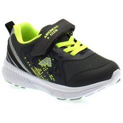 Buty sportowe dla dzieci American Club RL 05/20 Limonkowe - Grafitowy