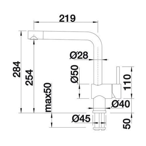 Baterie do kuchni, Bateria Blanco Linus 516698