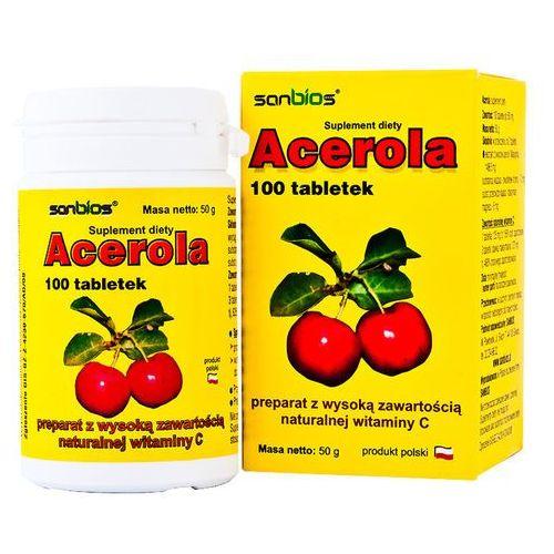 Witaminy i minerały, Acerola 500mg 100 tabletek