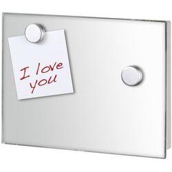 Praktyczna szafka na klucze Mirror, na ścianę, 7 kluczy, lustro, dekoracja, tablica, magnesy, stal nierdzewna, marka WENKO