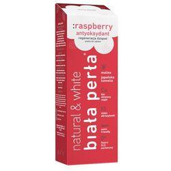 BIAŁA PERŁA NATURAL RASPBERRY - Wybielająca, naturalna pasta do zębów, malinowa, 75 ml, NOWOŚĆ!