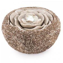 Blumfeldt Rosewater Fontanna ogrodowa LED 36x19 cm Pompa Optyka kamienia naturalnego