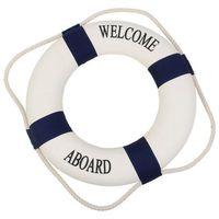 Kamizelki i pasy ratunkowe, Koło ratunkowe niebieskie pasy, dekoracja Life buoy blue 50 cm