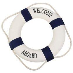 Koło ratunkowe niebieskie pasy, dekoracja Life buoy blue, L 35 cm