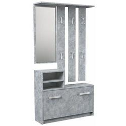 Garderoba wieszak lustro szafka na buty / Beton