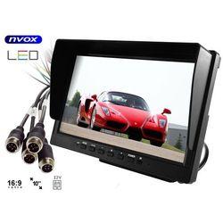 "Monitor samochodowy LCD 10"" AHD cofania i monitoringu z obsługą do 4 kamer 12V 24V"