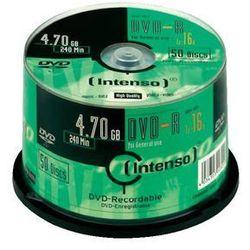 Intenso DVD-R, 4.7GB, X16, 50 Sztuk, Cake (4101155) Darmowy odbiór w 21 miastach!