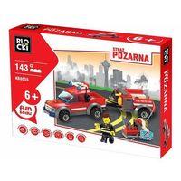 Klocki dla dzieci, Klocki Blocki Straż pożarna Samochód z przyczepą 143 elementy