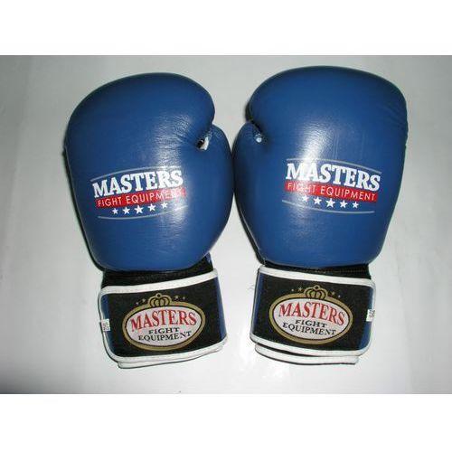Rękawice do walki, Rękawice bokserskie MASTERS RBT-10 - niebiesko-czarno-biały