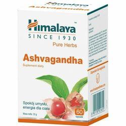 Ashvagandha, Himalaya, 60 kapsułek wegańskich