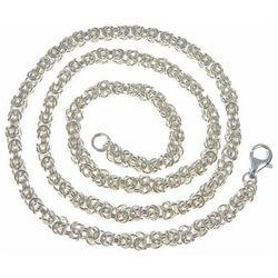 Srebrny gruby masywny łańcuch królewski 55 cm 3,8mm srebro 925 KRL38N