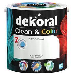 Satynowa farba lateksowa Dekoral Clean&Color ciepły lód 2 5 l