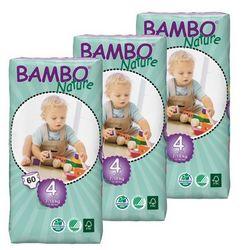 Eko Pieluszki Jednorazowe Maxi 7-18 kg, Karton (3op x 60szt), Bambo Nature ABENA