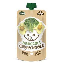 Obiadek Brokuły z Ziemniakami BIO 90 g od 6 m-ca życia BIO 90 g Novofruct